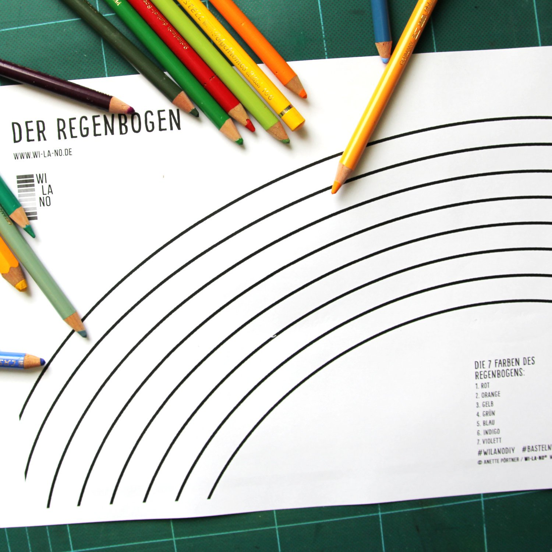 ausmalbild regenbogen download bastelbogen malvorlage › wi