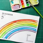 Regenbogen Ausmalbild Malvorlage Download