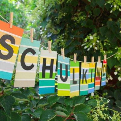 Schulkind ABC Postkarten Einschulung Erster Schultag