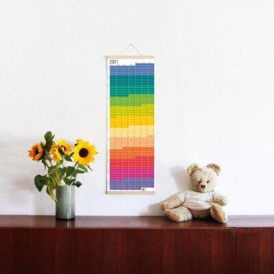 Kalender 2021 Wi-La-No Wandkalender WiLaNo Regenbogen Bunter Kalender