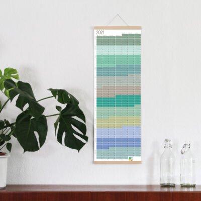 Wandkalender 2021 Jahresplaner Wallplanner Calendar 2021 Wi-La-No Pastell