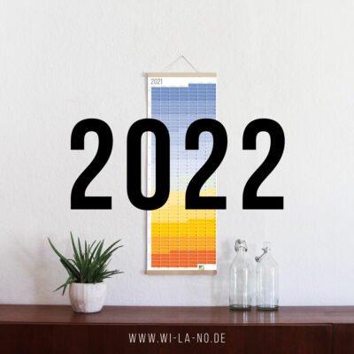 Wandkalender 2022 Jahresplaner Wallplanner Calendar 2022 Wi-La-No Blue Hour Blaue Stunde