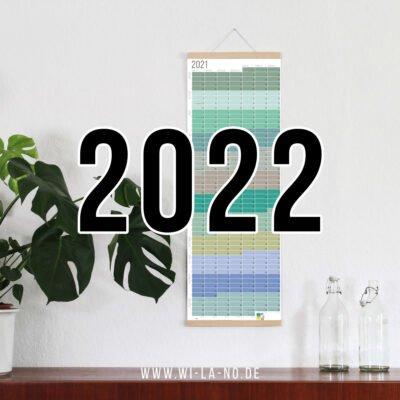 Wandkalender 2022 Jahresplaner Wallplanner Calendar 2022 Wi-La-No Pastell