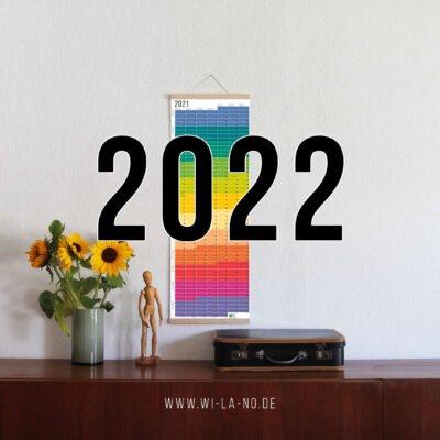 Wandkalender 2022 Jahresplaner Wallplanner Calendar 2022 Wi-La-No Regenbogen