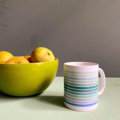 Gestreifter Kaffeebecher Kaffeetasse Teetasse geringelt Wi-La-No geringelter Becher